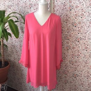 Bumble pink shift dress